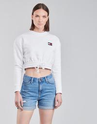 Oblečenie Ženy Mikiny Tommy Jeans TJW SUPER CROPPED BADGE CREW Biela