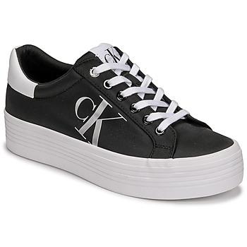 Topánky Ženy Nízke tenisky Calvin Klein Jeans VULCANIZED FLATFORM LACEUP NY Čierna