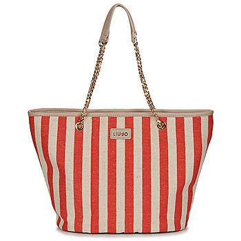 Tašky Ženy Veľké nákupné tašky  Liu Jo SICURA XL TOTE Béžová / Červená