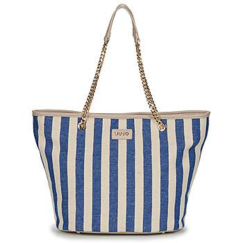 Tašky Ženy Veľké nákupné tašky  Liu Jo SICURA XL TOTE Béžová / Modrá