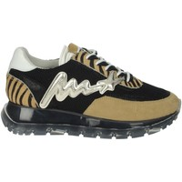 Topánky Ženy Nízke tenisky Meline 1700 Black/Brown Taupe