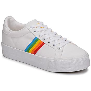 Topánky Ženy Nízke tenisky Gola ORCHID PLATEFORM RAINBOW Biela / Viacfarebná