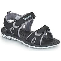 Topánky Deti Športové sandále Hummel SANDAL SPORT JR Čierna