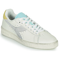 Topánky Ženy Nízke tenisky Diadora GAME L LOW ICONA WN Biela / Modrá