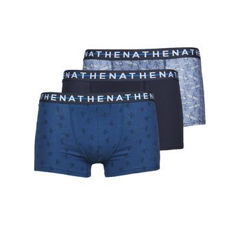 Spodná bielizeň Muži Boxerky Athena EASY STYLE X3 Modrá / Námornícka modrá / Modrá