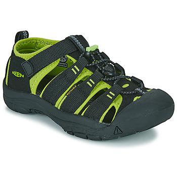 Topánky Chlapci Športové sandále Keen NEWPORT H2 Čierna / Zelená