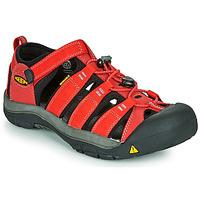 Topánky Deti Športové sandále Keen NEWPORT H2 Červená