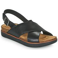 Topánky Ženy Sandále Clarks ELAYNE CROSS Čierna