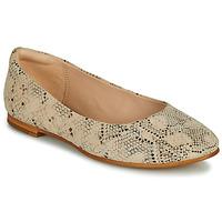Topánky Ženy Balerínky a babies Clarks GRACE PIPER Béžová / Hadí vzor