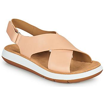 Topánky Ženy Sandále Clarks JEMSA CROSS Svetlá telová