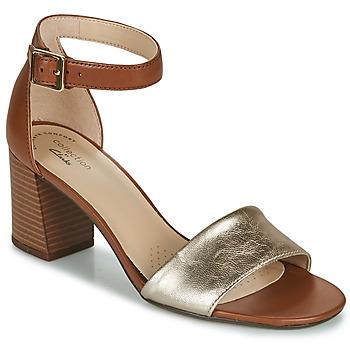 Topánky Ženy Sandále Clarks JOCELYNNE CAM Hnedá / Strieborná
