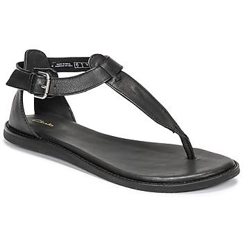Topánky Ženy Sandále Clarks KARSEA POST Čierna
