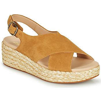 Topánky Ženy Sandále Clarks KIMMEI CROSS Hnedá