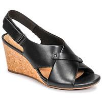 Topánky Ženy Sandále Clarks MARGEE EVE Čierna