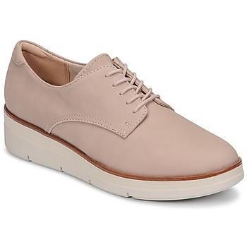 Topánky Ženy Derbie Clarks SHAYLIN LACE Ružová