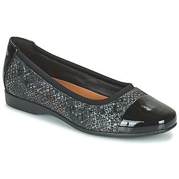 Topánky Ženy Balerínky a babies Clarks UN DARCEY CAP2 Čierna