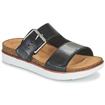 Topánky Ženy Šľapky Clarks ELYANE EEASE Čierna