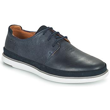 Topánky Muži Derbie Clarks BRATTON LACE Modrá