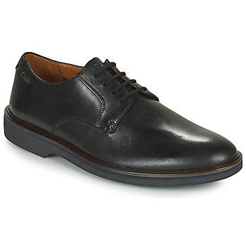 Topánky Muži Derbie Clarks MALWOOD PLAIN Čierna