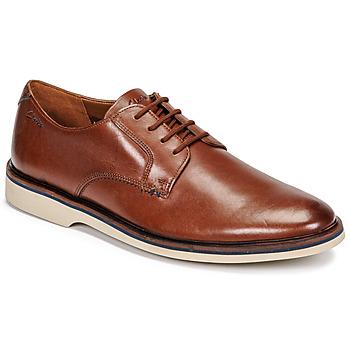 Topánky Muži Derbie Clarks MALWOOD PLAIN Hnedá