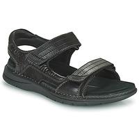 Topánky Muži Športové sandále Clarks NATURE TREK Čierna