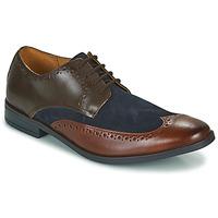 Topánky Muži Derbie Clarks STANFORD LIMIT Hnedá / Modrá