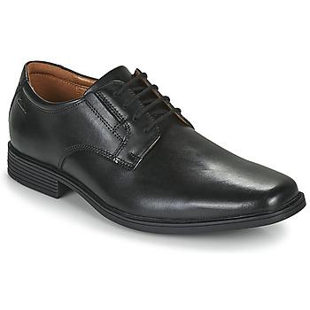 Topánky Muži Derbie Clarks TILDEN PLAIN Čierna