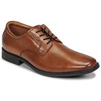 Topánky Muži Derbie Clarks TILDEN PLAIN Hnedá