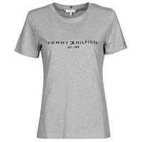 Oblečenie Ženy Tričká s krátkym rukávom Tommy Hilfiger TH ESS HILFIGER C-NK REG TEE SS Šedá