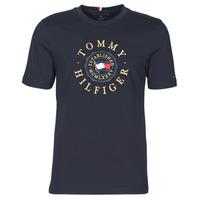 Oblečenie Muži Tričká s krátkym rukávom Tommy Hilfiger ICON COIN TEE Námornícka modrá