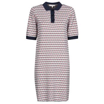 Oblečenie Ženy Krátke šaty Tommy Hilfiger TH CUBE SHIFT SHORT DRESS SS Biela / Červená / Námornícka modrá