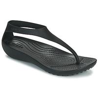 Topánky Ženy Žabky Crocs CROCS SERENA FLIP W Čierna