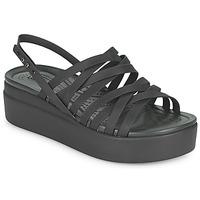 Topánky Ženy Sandále Crocs CROCS BROOKLYN STRAPPY LOWWDGW Čierna