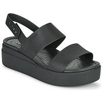 Topánky Ženy Sandále Crocs CROCS BROOKLYN LOW WEDGE W Čierna