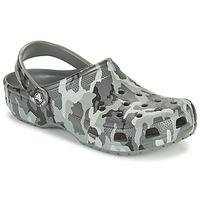Topánky Muži Nazuvky Crocs CLASSIC PRINTED CAMO CLOG Maskáčový vzor / Šedá