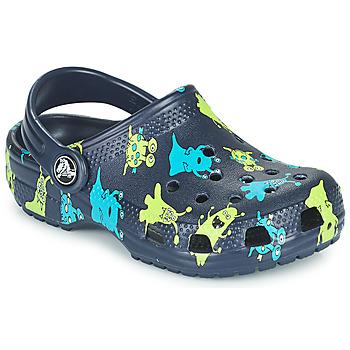 Topánky Chlapci Nazuvky Crocs CLASSIC MONSTER PRINT CLOG T Modrá