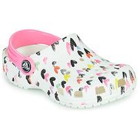 Topánky Dievčatá Nazuvky Crocs CLASSIC HEART PRINT CLOG K Biela