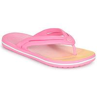 Topánky Ženy Žabky Crocs CROCBAND OMBRE FLIP W Ružová