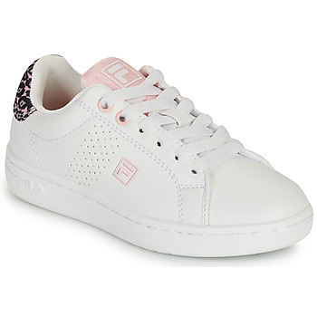 Topánky Dievčatá Nízke tenisky Fila CROSSCOURT 2 NT KIDS Biela / Ružová