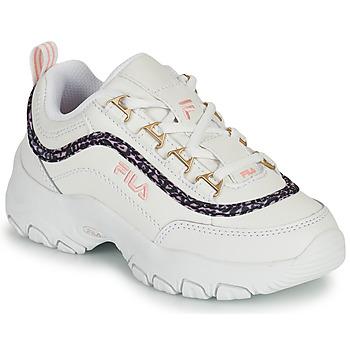 Topánky Dievčatá Nízke tenisky Fila STRADA A LOW JR Biela / Béžová