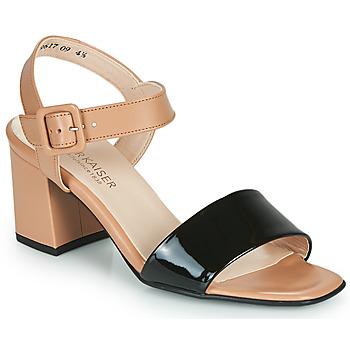 Topánky Ženy Sandále Peter Kaiser PEORIA Svetlá telová / Čierna