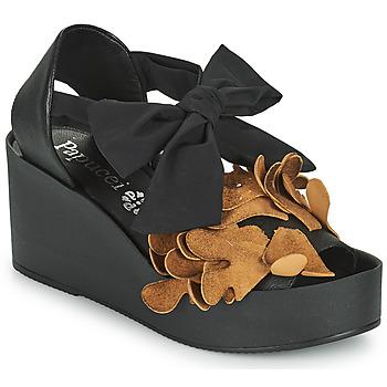 Topánky Ženy Sandále Papucei MAYA Čierna / Hnedá