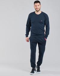 Oblečenie Muži Súpravy vrchného oblečenia Emporio Armani STRETCH TERRY Námornícka modrá