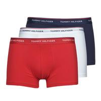 Spodná bielizeň Muži Boxerky Tommy Hilfiger TRUNK X3 Biela / Červená / Námornícka modrá