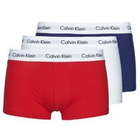 Spodná bielizeň Muži Boxerky Calvin Klein Jeans RISE TRUNK X3 Námornícka modrá / Biela / Červená