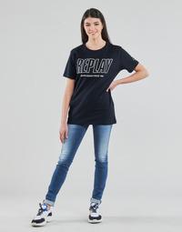 Oblečenie Ženy Rifle Skinny  Replay HYPERFLEX LUZ Modrá / Medium