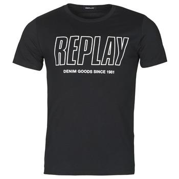 Oblečenie Muži Tričká s krátkym rukávom Replay M3395-2660 Čierna