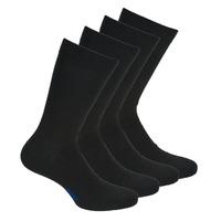 Doplnky Muži Ponožky DIM MI CHAUSSETTE COTON X4 Čierna