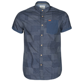 Oblečenie Muži Košele s krátkym rukávom Deeluxe ETHNIC Námornícka modrá
