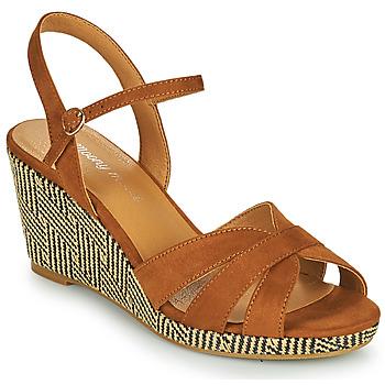 Topánky Ženy Sandále Moony Mood MALIA Ťavia hnedá